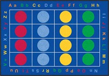 Educational Rug - Abc Dots Rectangle Small