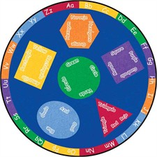 Learning Rug - Bilingual Round Small