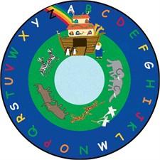 Kids Rug - Noah's Ark Round Large