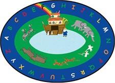 Kids Rug - Noah's Ark Oval Large