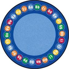 Educational Rug - Abc Rotary Round Large
