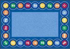 Educational Rug - Abc Rotary Rectangle Large