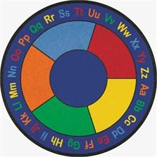 Educational Rug - ABC Squares Round Large