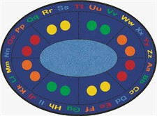 Learning Rug - ABC Dots Oval Large