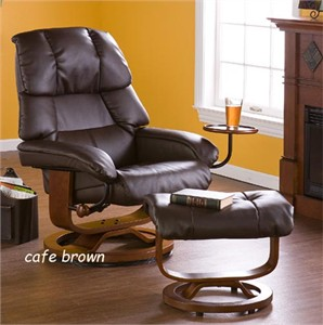 Holly & Martin Canyon Lake Leather Recliner and Ottoman
