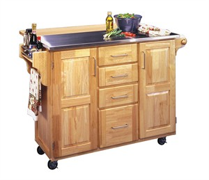 Homestyles 5086-95 Kitchen Cart with Stainless Top