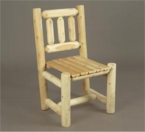 Rustic Natural Cedar Log Dining Chair