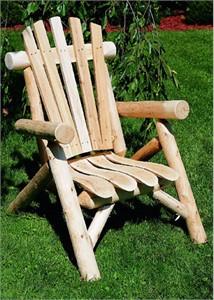 Log Cabin Cedar Log Lounge Chair