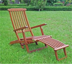 Acacia Wood Lounge Chair