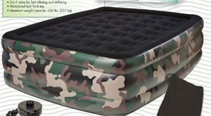 Pure Comfort 8508CDB Camouflage Queen Raised Air Bed