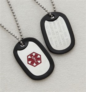 Dog Tag Personalized Medical Information Necklace