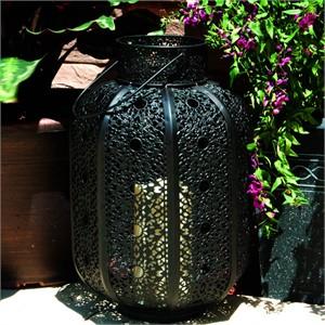 Cadiz Metal Cylinder Candle Lantern