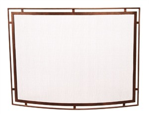 Minuteman Town & Country Curved Fire Screen