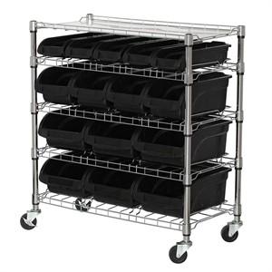 Mobile Bin Storage Shelves