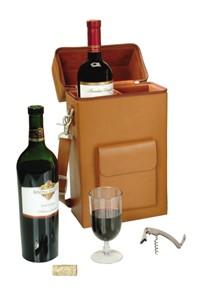 Monogrammed Wine Tote Bag