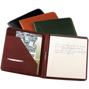 Monogrammed Leather Writing Portfolio