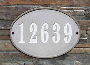 Qualarc OAK-4605 Oakfield Oval Address Plaque