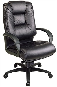 Office Star EX5162 Deluxe Executive High Back Leather Office Chair