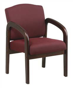Office Star WD383 Mahogany Visitor's Chair