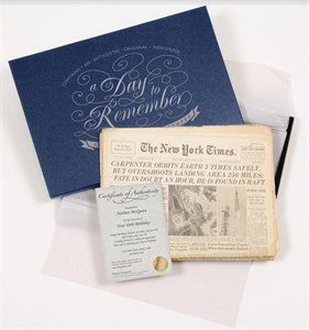 Original Historic Newspaper in Premium Gift Box