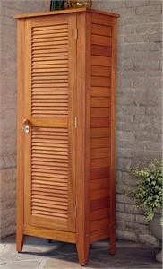 Shorea Wood One Door Outside Storage Cabinet
