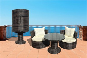 Art-Deck-Oh DM-GV-505 Geo Vino Resin Wicker Furniture
