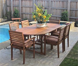 Balau Wood Outdoor Dining Set