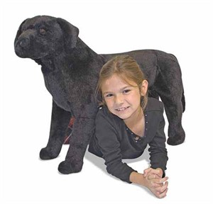 Oversized Black Lab Stuffed Animal
