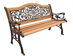 Sienna Camel Back Park Bench
