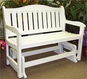 Hardwood Garden Glider Bench