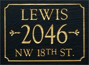 Personalized 3 Line Slate Address Sign