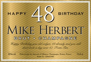 Personalized Birthday Champagne Label