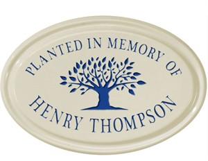 Planted in Memory of Ceramic Plaque