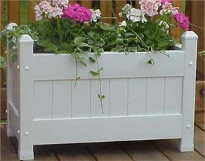White Vinyl Planter Box