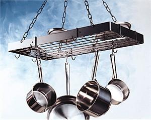 Pot rack : Rogar 2315 standard black & chrome