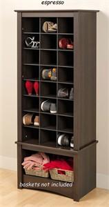 Prepac EUSR-0008-1 Tall Shoe Cubbie Cabinet