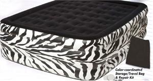 Pure Comfort 8508ZDB Zebra Queen Raised Air Bed