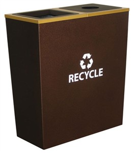 Ex-Cell RC-MTR-2 HCPR Metro Collection 2 Stream Recycling Bin