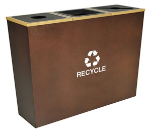 Ex-Cell Metro RC-MTR-3 HCPR 3 Stream Recycling Bin