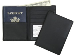 Leather RFID Blocking Passport Currency Wallet