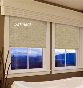 Easy Touch Oatmeal Room Darkening Window Shade