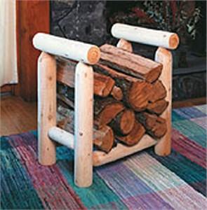 Rustic Natural Cedar 1002 2' Firewood Rack