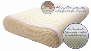 Science of Sleep SF6255 Cool Mesh Memory Foam Pillow