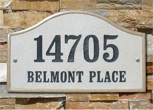 Qualarc VER-4603 Verona Serpentine Address Plaque