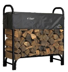 ShelterLogic 90401 Covered Firewood Rack