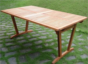 Shorea Wood Extension Table