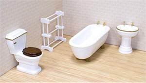 Melissa & Doug 2584 Dollhouse Bathroom Furniture