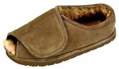 Old Friend Step In Slipper : adjustable closure slipper for men