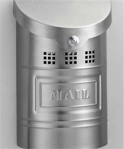 """Small Wall Mount Mail Box - - stainless steel mailbox 11"""" high"""