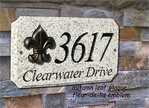 Qualarc EXE-4702 Personalized 2 Line Granite Address Sign